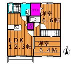 エルメゾン浦田 A[2階]の間取り
