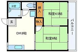 山本ハイツB棟[2階]の間取り
