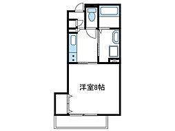 神奈川県厚木市戸室5の賃貸アパートの間取り