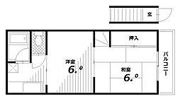 グリーンリーブスI[2階]の間取り