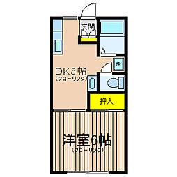 神奈川県横浜市保土ケ谷区帷子町2丁目の賃貸アパートの間取り