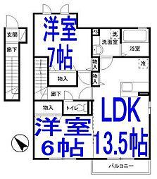コフレ・ドールB[2階]の間取り