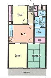 神奈川県横浜市泉区和泉中央南4丁目の賃貸マンションの間取り