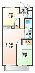 サープラス華D[1階]の間取り