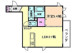 ラルジュメゾン[3階]の間取り