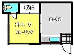 萩原荘[203号室]の間取り