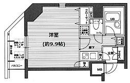東京都中央区入船2丁目の賃貸マンションの間取り