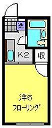 シティハイム中田B[2階]の間取り