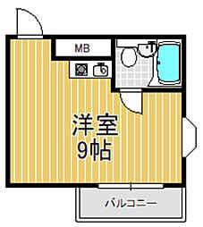 小若江ハイツ[3階]の間取り