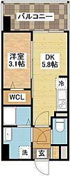 長崎県長崎市中園町の賃貸マンションの間取り