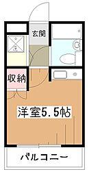 東京都東村山市萩山町3の賃貸マンションの間取り