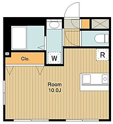 ハウス12 1階ワンルームの間取り