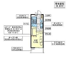JR常磐線 天王台駅 徒歩6分の賃貸アパート 4階1Kの間取り