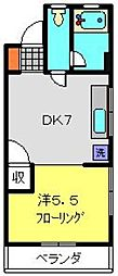 神奈川県横浜市旭区本村町の賃貸マンションの間取り