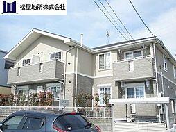 愛知県豊川市谷川町洞の賃貸アパートの外観