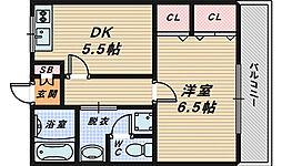 コンフォルト・ハイム[2階]の間取り