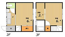 松風ビル[2階]の間取り
