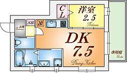 グルーブ須磨大手町[1階]の間取り