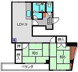 丸松ビル[4階]の間取り