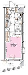 京急空港線 糀谷駅 徒歩4分の賃貸マンション 2階1Kの間取り