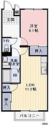 長野県千曲市大字戸倉の賃貸アパートの間取り