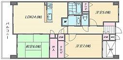 スタシオン海の中道III[405号室]の間取り