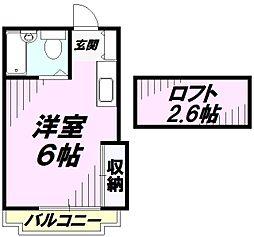 グレースKEI[1階]の間取り