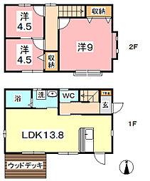 [一戸建] 岡山県倉敷市連島5丁目 の賃貸【/】の間取り
