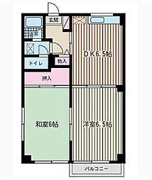 神奈川県横浜市港南区日野5丁目の賃貸マンションの間取り