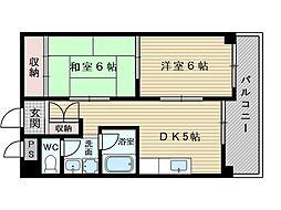 メゾンドゥボナール[3階]の間取り