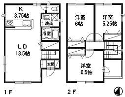 [一戸建] 岡山県倉敷市中畝9丁目 の賃貸【/】の間取り