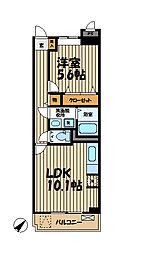 神奈川県鎌倉市植木の賃貸マンションの間取り