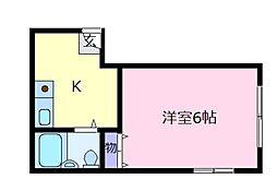 三恵ハイツ[2階]の間取り