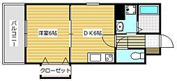 AVENIL  INOUE  21階Fの間取り画像