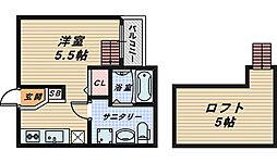 CLOUD鳳[2階]の間取り