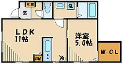 川崎市高津区下作延5丁目計画 1階1LDKの間取り