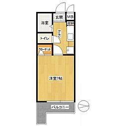 ドマーニ西新[4階]の間取り