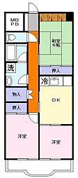 シラカワパレスA棟[1階]の間取り