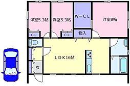 [一戸建] 大阪府堺市美原区小平尾 の賃貸【/】の間取り