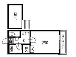 徳島県徳島市富田橋8丁目の賃貸アパートの間取り