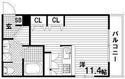 大橋メゾン[2階]の間取り