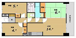 ウイング神戸[6階]の間取り