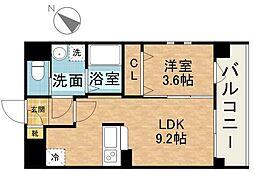 アクアリア室見[5階]の間取り