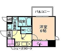 Lala place 梅田東シエスタ[6階]の間取り