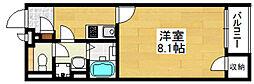 クレイノハレ オリナ 1階1Kの間取り
