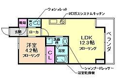 レジディア千里藤白台[1階]の間取り