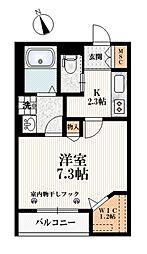 東京メトロ有楽町線 小竹向原駅 徒歩2分の賃貸マンション 2階1Kの間取り