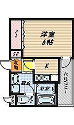 大阪府大阪市城東区野江4丁目の賃貸マンションの間取り
