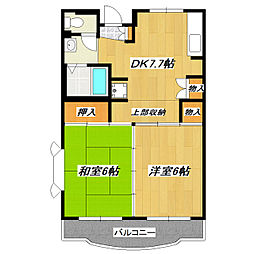 東京都葛飾区奥戸8丁目の賃貸マンションの間取り