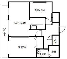 ピエール・ラルジュ東札幌[4階]の間取り